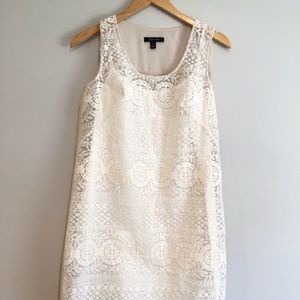 IVY + BLU Lace Ivory sleeveless dress-sz 4
